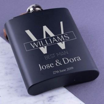 Personalised Metal Hip Flask