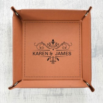 Leather Catchall Trays