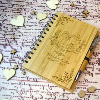 Wedding Planner Bamboo Notebook