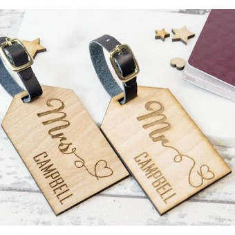 Personalised Wooden Luggage Tag