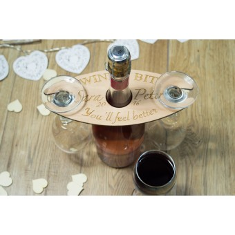 Wine Butler for two glasses