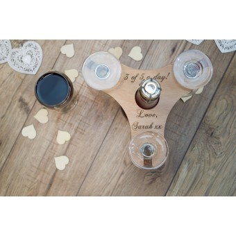 Wine Butler for three glasses