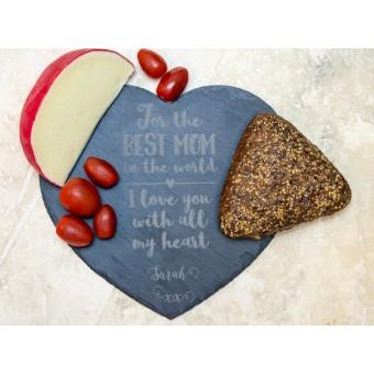 Personalised Heart Shaped Slate Board