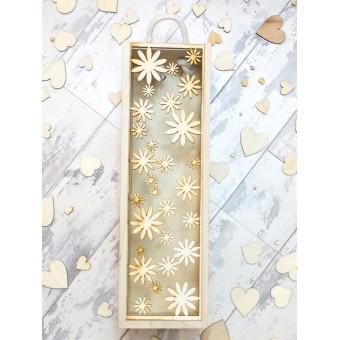 Wooden Wine Box - Daisy
