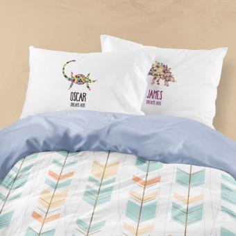 Personalised Dinosaur Pillowcase