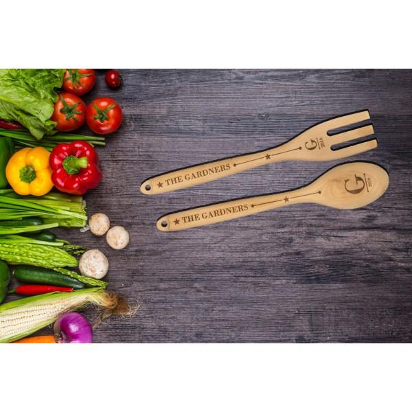 Personalised Wooden Spoon or Fork