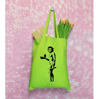 Banksy Themed Tote Bags - Green