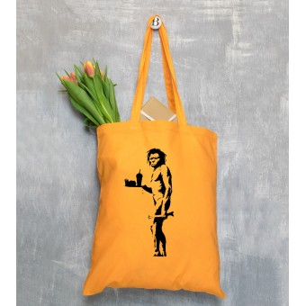 Banksy Themed Tote Bags - Orange