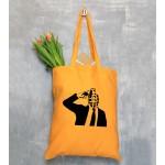 Banksy Themed Tote Bags - Orange