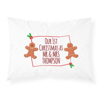 Personalised Christmas Text Pillowcase
