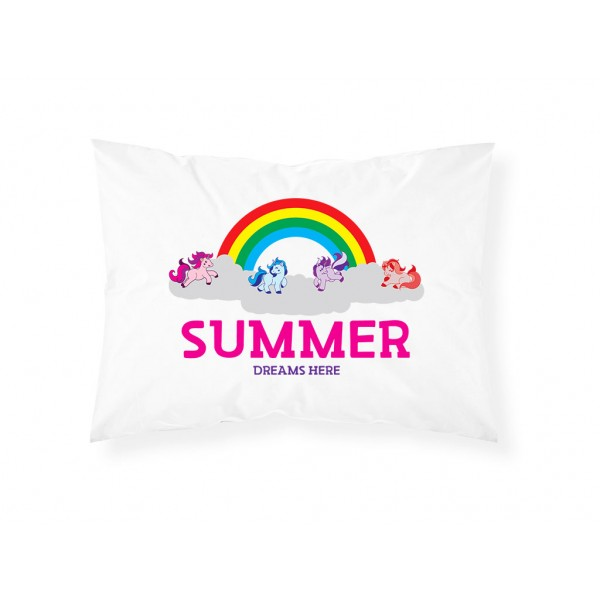 Personalised Childrens Unicorn Pillowcase