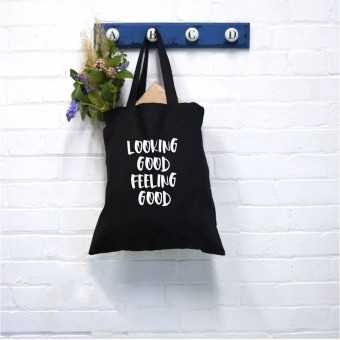 Gym Text Tote Bag