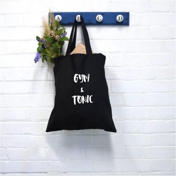 Gym Text Tote Bag