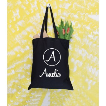 Initial and Name Tote Bag