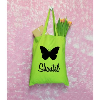 Name Tote Bag - Butterfly