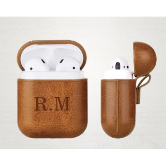 Personal Leather AirPods Case (Initials)