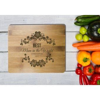 Personalised Bamboo Serving or Cutting Board - Rectangle