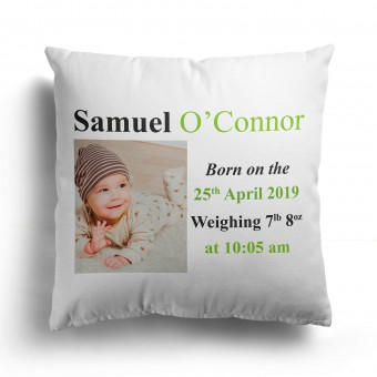 Personalised Baby Shower Cushion Cover