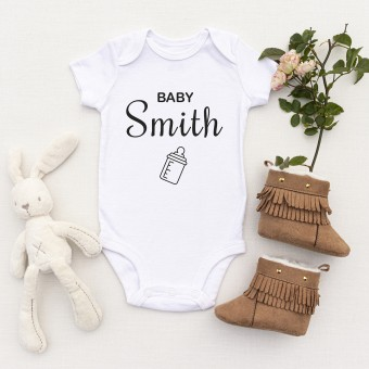 Personalised White Baby Body Suit Grow Vest