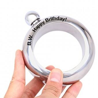 Personalised Bracelet Hip Flask