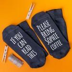 Personalised Socks Bring Coffee