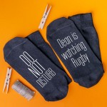 Personalised Socks Don't disturb Watching Rugby
