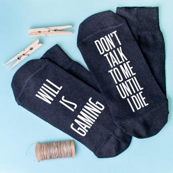 Personalised Socks Gaming Until I die