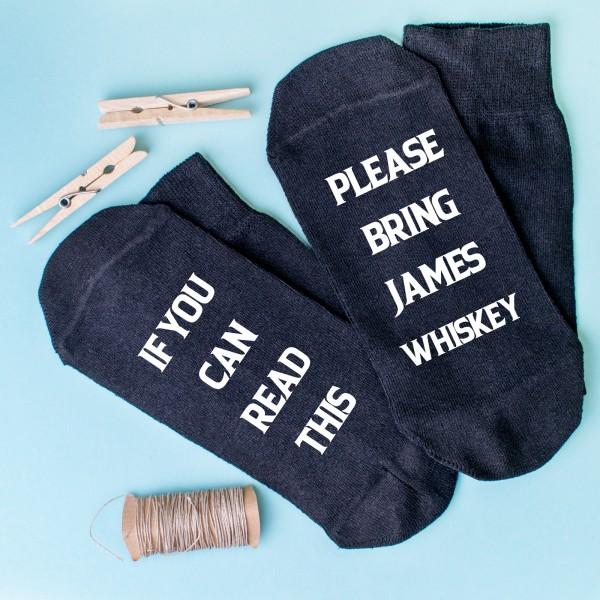 Personalised Socks Bring Whiskey