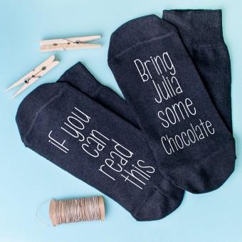 Personalised Socks Bring Chocolate