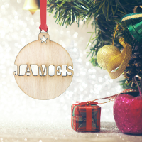 Personalised Christmas Ornaments - Pack of Six