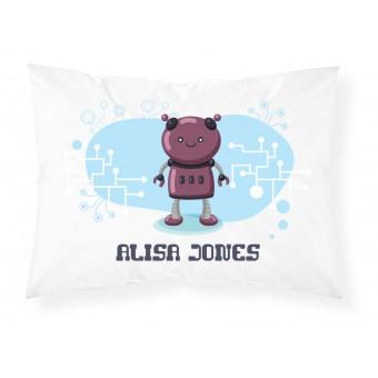 Personalised Childrens Robot Pillowcase