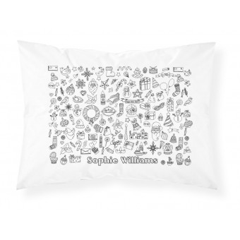 Personalised Colour-In Christmas Pillowcase