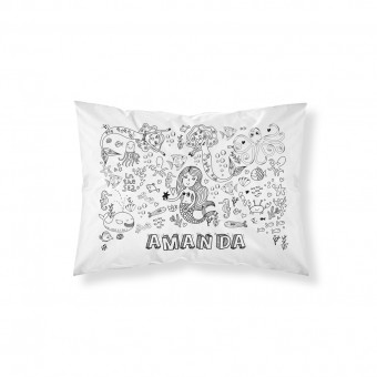 Personalised Colour-In Mermaid Pillowcase