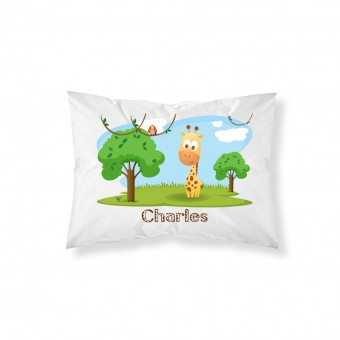 Personalised Cute Safari Animals Pillowcase
