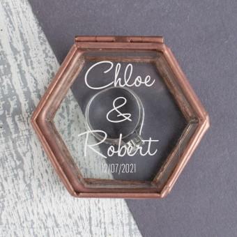 Personalised Jewellery Ring Box