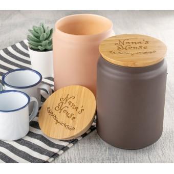 Personalised Engraved Jar With Lid