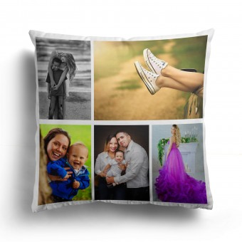Personalised Photo Collage and Message Cushion Up to 5 Photo