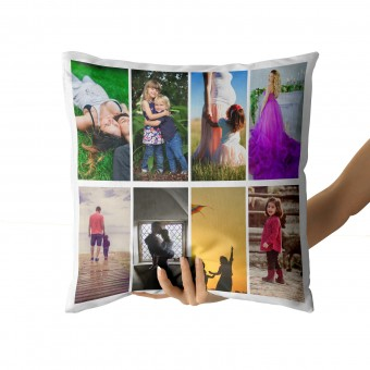 Personalised Photo Cushion Cover with Up to 8 Photos