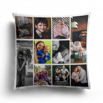Personalised Photo Cushion Cover with Up to 10 Photo