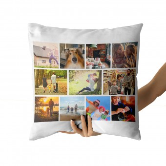 Personalised Photo Cushion Cover with Up to 12 Photos