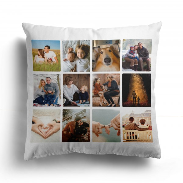 Personalised Photo Cushion Cover with 12 Photo PIP-212