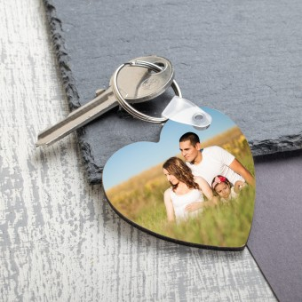 Personalised Photo Keyring-Heart