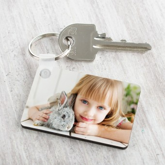 Personalised Photo Keyring-Rectangle