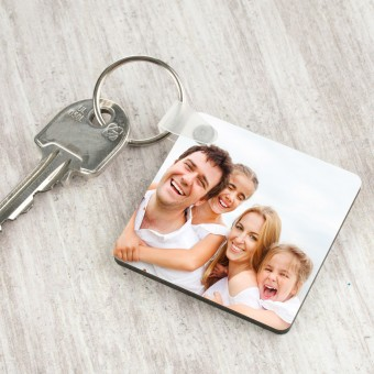 Personalised Photo Keyring-Square