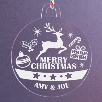 Personalised Acrylic Ornaments - Pack of Two #111
