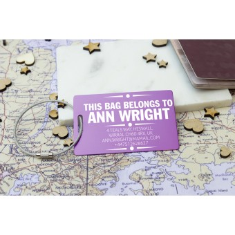 Personalised Metal Luggage Tag (With Address)