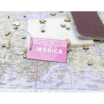 Personalised Metal Luggage Tag - 6 Colours