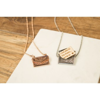 Personalised Mini Envelope Necklace with Letter