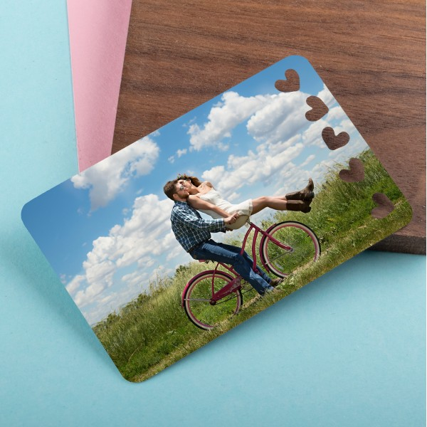 Personalised Photo Wallet Insert Hearts