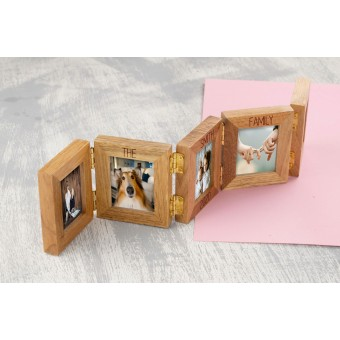 Personalised 5 Photo Frame Oak Wooden Multi Picture Family Frame
